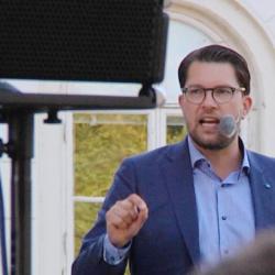Åkesson var tydlig med vem som bar skulden till samhällsproblemen.