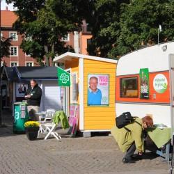 Valstugorna på Västra Storgatan.